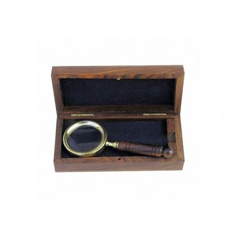 Lupa v dřevěné krabičce - délka 11 cm