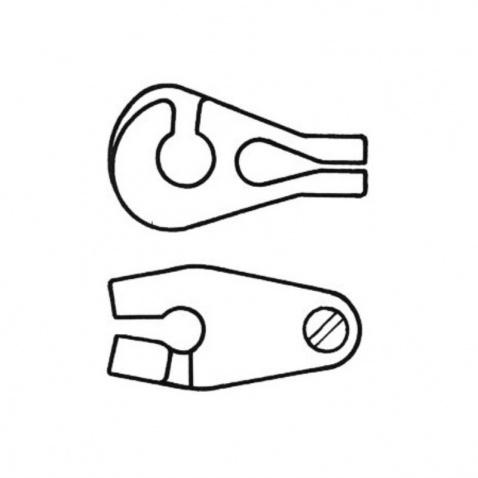 Jezdec plachty (kosatky) na vant (lano, stěh), 4mm