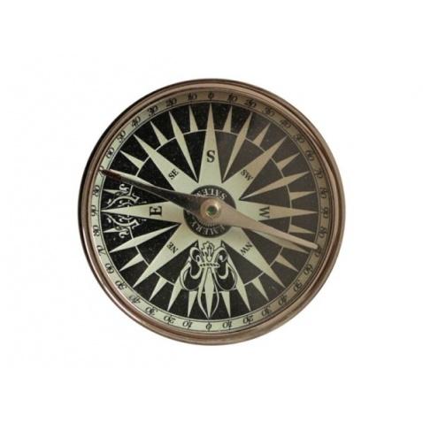 Kompas v koženém pouzdru,prům.7,3cm