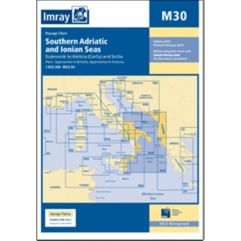Mapa M30 Southern Adriatic and Ionian seas