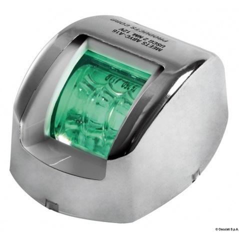 Poziční světlo zelené 112.5° nerez