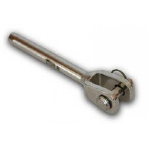 Terminál vidlička s čepem pro lano 3mm / čep 6mm