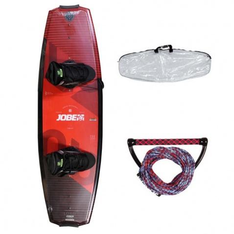 Wakeboard JOBE LOGO Series 138 Red + boty + lano