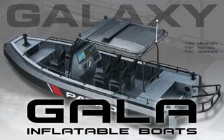GALA GALAXY - heavy duty člun s pevným hliníkovým kýlem a polyuretanovými tubusy