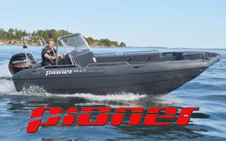Pioner Multi -  polyethylenový motorový člun s výklopnou přídí