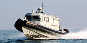 MED DEFENSE profesionální člun, policejní člun, hlídkový člun
